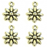 20 Tibetan Silver 15x20mm Flower Charms